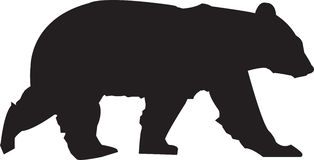 Bear Silhouette Royalty Free Stock Photo