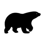 Bear silhouette. Vector illustration Royalty Free Stock Photos