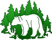 Bear Silhouette Stock Image