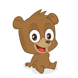 Bear sitting. Clipart picture of a bear cartoon character sitting Royalty Free Stock Photos