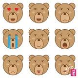 Teddy Bear Face Emoticon. Cute Teddy Bear Emoticon. Stock ...