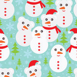 Bear snowman seamless pattern Royalty Free Stock Photos