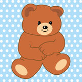 Bear. Special teddy bear on special blue background Stock Photography