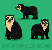 Bear Spectacled Bear Cartoon Vector Illustration Royalty Free Stock Images