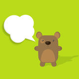 Bear with speech bubble Royalty Free Stock Photography