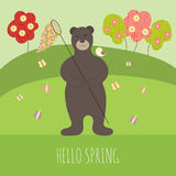 Bear in spring Royalty Free Stock Photo