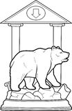 Bear stands on a pedestal Royalty Free Stock Images