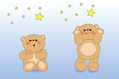 A bear and stars Stock Image