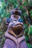 Bear Statue Carving at Disney California Adventure Royalty Free Stock Image