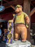 Bear statue at Disney California Adventure Park Royalty Free Stock Images