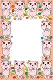 Bear sugar card frame Stock Photo