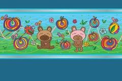 Bear sugar colorful card template Stock Photo