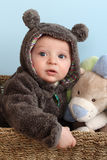 Bear Suit Baby Royalty Free Stock Photo