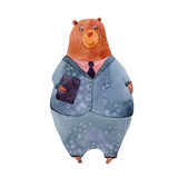 Bear in a suit Stock Image