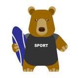 Bear surfer Royalty Free Stock Photos