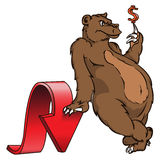 Bear. Symbol of stock market trend Stock Images
