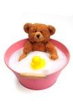Bear taking a bath Royalty Free Stock Photo