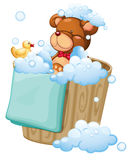 A bear taking a bath Stock Photography