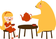 Bear Tea Party Royalty Free Stock Images
