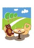 Bear tea time Royalty Free Stock Image