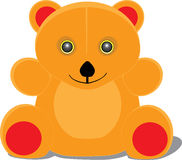 Bear. Teddy orange bear with a smile Royalty Free Stock Photos
