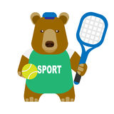 Bear tennis Royalty Free Stock Photography