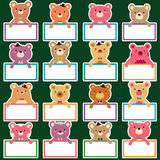 Bear text boards set Stock Photography