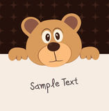 Bear and text box Royalty Free Stock Photography
