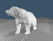Bear with texture with numbers, 3d render, bull market concept. Stock Photography