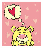 Bear thinking about love Stock Image