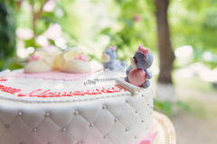 Bear on Top of Cake Royalty Free Stock Photography