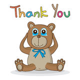 Bear touching thank you Royalty Free Stock Photo