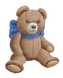 Bear-toy. On a white background Stock Photography