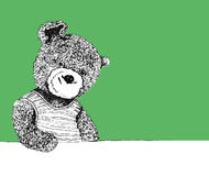 Bear. Toy. abstract black and white Stock Illustration