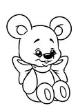 Bear toy coloring page stock illustration