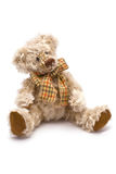 Bear Toy. Gray Toy Bear isolated on white Stock Photos