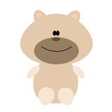 Bear toy icon on white. Bear toy. Flat vector illustration on a white background Stock Images