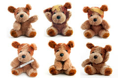 Bear Toy is ill Royalty Free Stock Photo