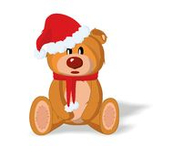 Bear toy in the New Year Royalty Free Stock Image