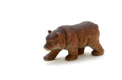 Bear toy. L foreground isolated white background Stock Image