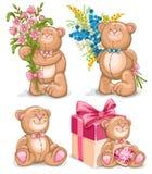 Bear toys set Stock Photos
