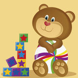 Bear and toys Royalty Free Stock Images