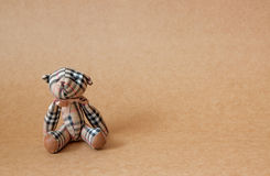 Bear toys on texture of paper backgrounds,kid toys Royalty Free Stock Photos