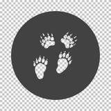 Bear trails  icon royalty free illustration