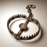 Bear trap. 3d old bear trap on white Royalty Free Stock Photos