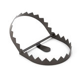 Bear trap isolated on a white background. 3d rendering.  Royalty Free Stock Photos