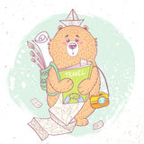 Bear travel Royalty Free Stock Photography