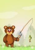 Bear trout fishing Stock Image