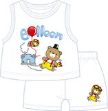 Bear twin brothers playing balloon in teddy land.  Stock Photography