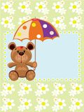 Bear with umbrella. Royalty Free Stock Image